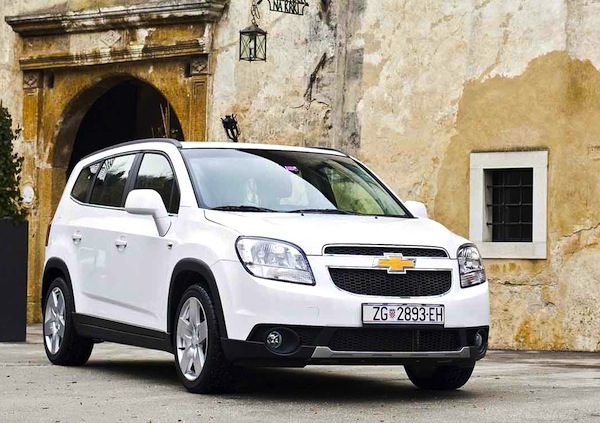 Chevrolet Orlando Venezuela July 2013. Picture courtesy of larevueautomobile.com