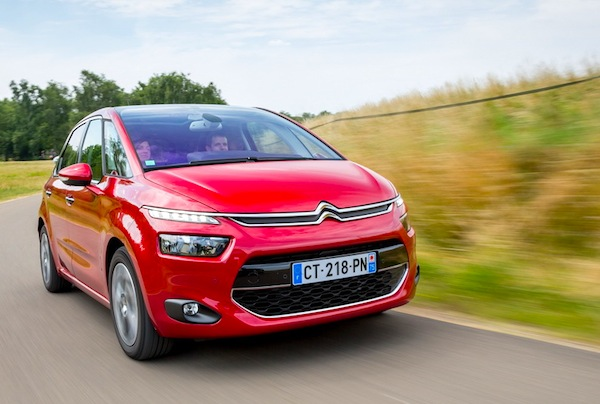 Citroen C4 Picasso Belgium January 2014. Picture courtesy of largus,fr