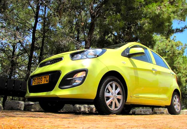 Kia Picanto Israel July 2013. Picture courtesy of kml.co.il