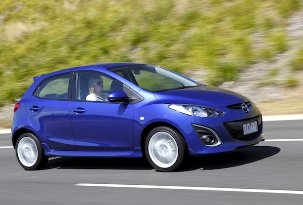 Mazda2 Australia 2012. Picture courtesy of themotorreport.com.au