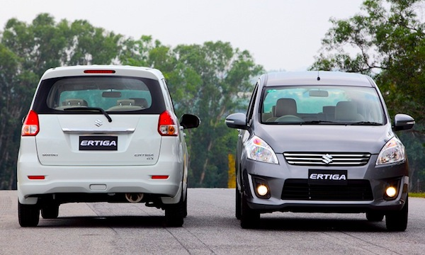 Suzuki Ertiga Thailand June 2013. Picture courtesy of motorspices.com