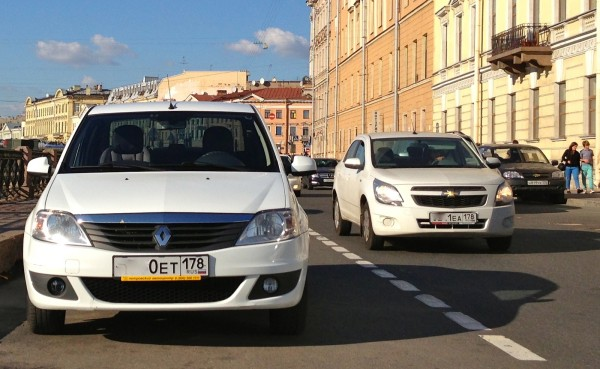 9 Renault Logan Chevrolet Cobalt
