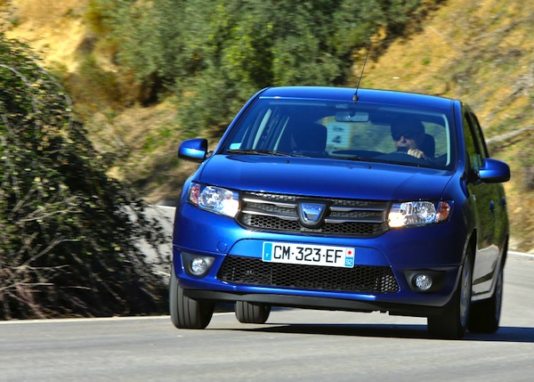 Dacia Sandero Spain November 2015. Picture courtesy of largus.fr
