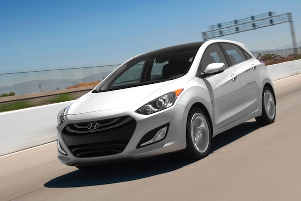 Hyundai Elantra USA August 2013. Picture courtesy of motortrend.com