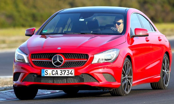 Mercedes CLA Belgium August 2013. Picture courtesy of autozeitung.de