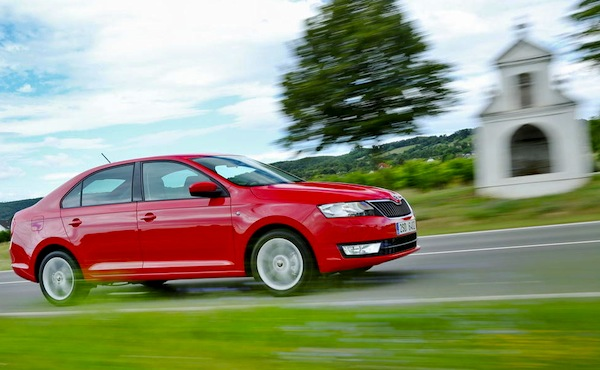 Skoda Rapid Slovakia 2013. Picture courtesy of largus.fr
