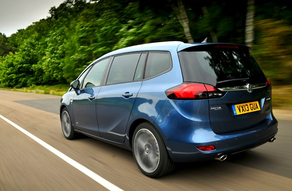 Vauxhall Zafira Wales August 2013. Picture courtesy of whatcar.com