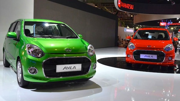 Daihatsu Ayla Indonesia Seprember 2013. Picture courtesy of www.mesinbalap.com
