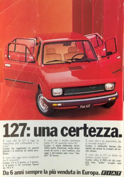 Fiat 127 advertising
