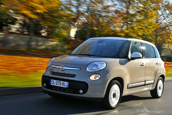 Fiat 500L Europe September 2013. Picture courtesy of largus.fr