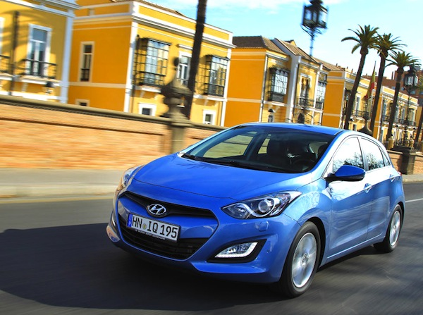 Hyundai i30 Croatia September 2013. Picture courtesy of largus.fr