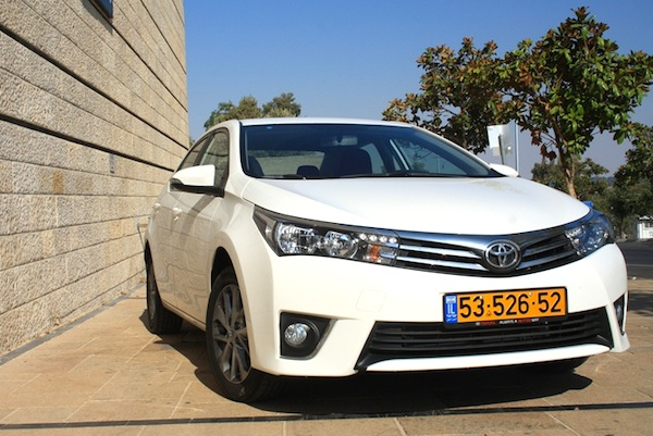 Toyota Corolla Israel January 2014. Picture courtesy of icar.co.il