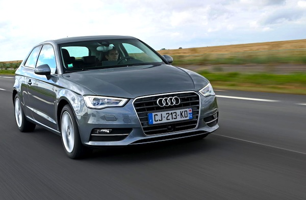 Audi A3 Austria April 2014. Picture courtesy of largus.fr