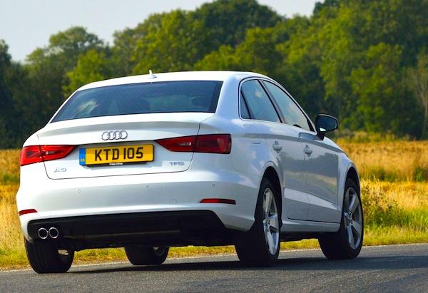 Audi A3 sedan UK October 2013