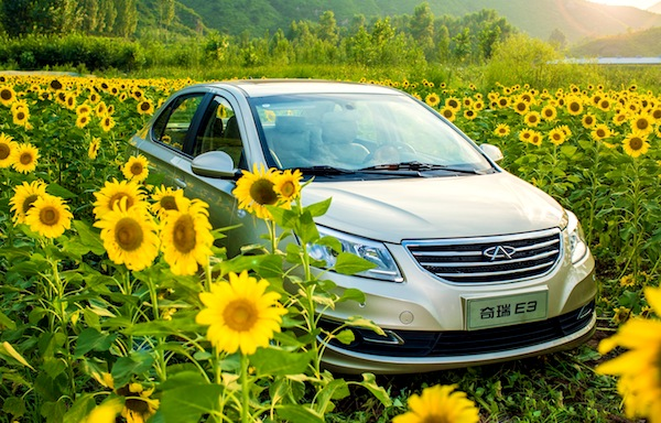 Chery E3 China October 2013. Picture courtesy of chewen.com