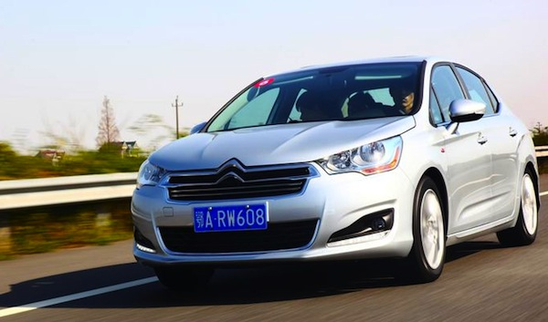 Citroen C4L China October 2013. Picture courtesy of auto.sohu.com