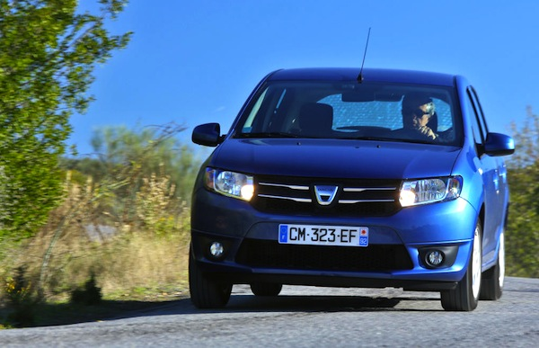 Dacia Sandero Belgium March 2014. Picture courtesy of largus.fr