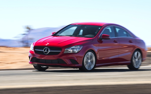 Mercedes CLA California December 2013. Picture courtesy of www.motortrend.com