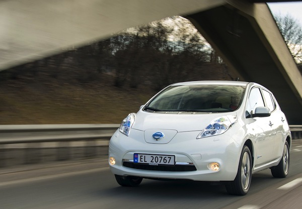 Nissan Leaf Norway 2013. Picture courtesy of largus.fr