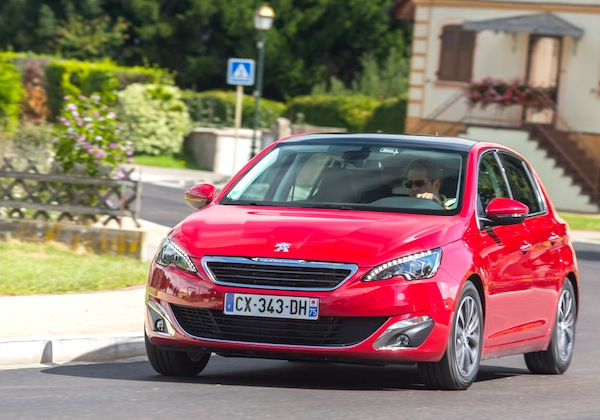 Peugeot 308 Portugal October 2013. Picture courtesy of largus.fr
