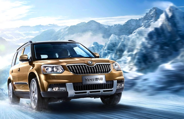 Skoda Yeti China October 2013. Picture courtesy of auto.ifeng.com