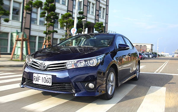 Toyota Corolla Australia January 2014. Picture courtesy of u-car.com.tw