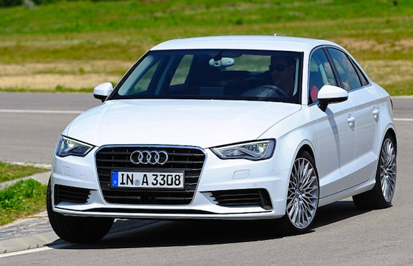 Audi A3 Limousine Germany November 2013. Picture courtesy of autobild.de