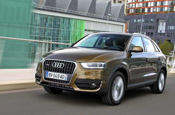 Audi Q3 Austria November 2013. Picture courtesy of largus.fr