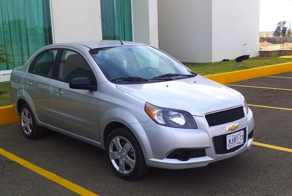 Chevrolet Aveo Mexico November 2013. Picture courtesy of montrealracing.com