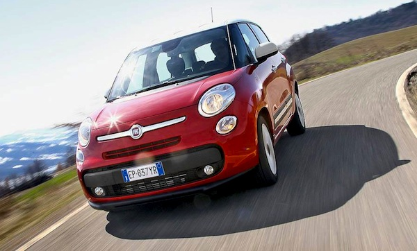 Fiat 500L Slovenia February 2014. Picture courtesy of quattroruote.it