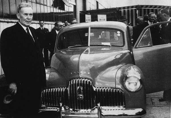 Holden 48-215 sedan launch in 1948