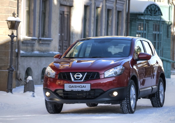 Nissan Qashqai Russia November 2013. Picture courtesy of zr.ru