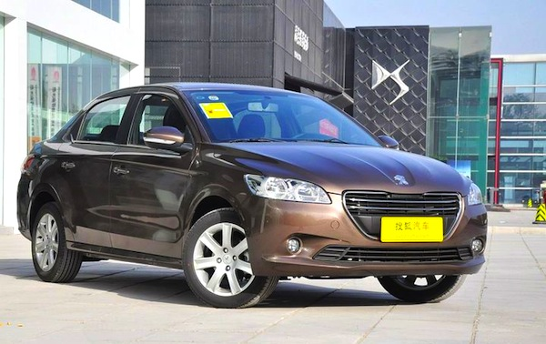 Peugeot 301 China November 2013. Picture courtesy of auto.sohu.com