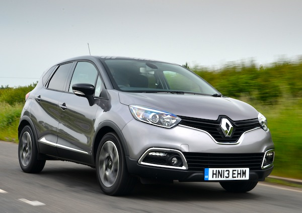 Renault Captur UK June 2014