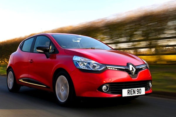 Renault Clio UK November 2013. Picture courtesy of carbuyer.co.uk