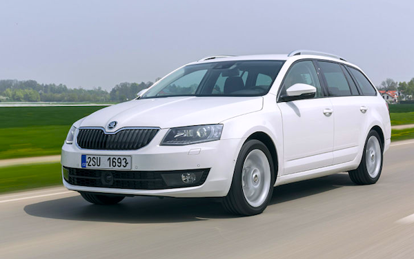 Skoda Octavia Denmark December 2013. Picture courtesy of autobild.de