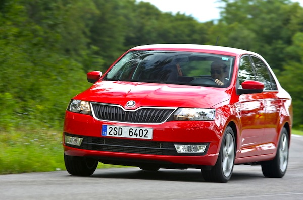 Skoda Rapid Poland March 2014. Picture courtesy of largus.fr