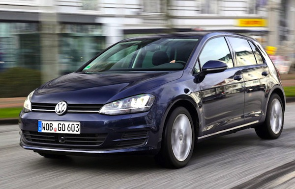 VW Golf Switzerland December 2013. Picture courtesy of autobild.de