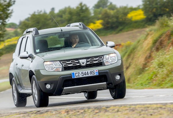 Dacia Duster Romania November 2014. Picture courtesy of largus.fr
