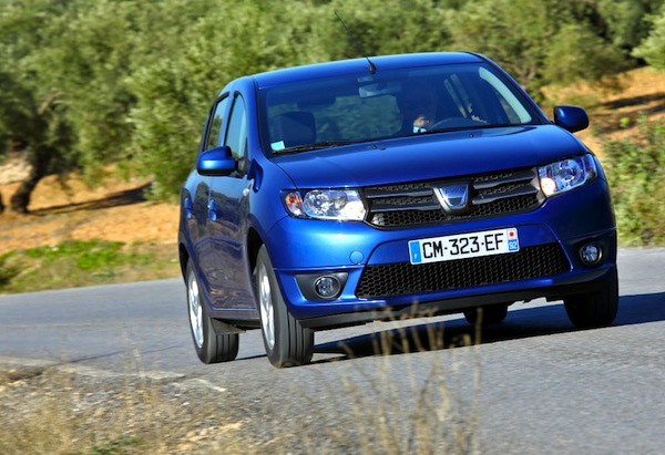 Dacia Sandero Spain December 2013. Picture courtesy of largus.fr