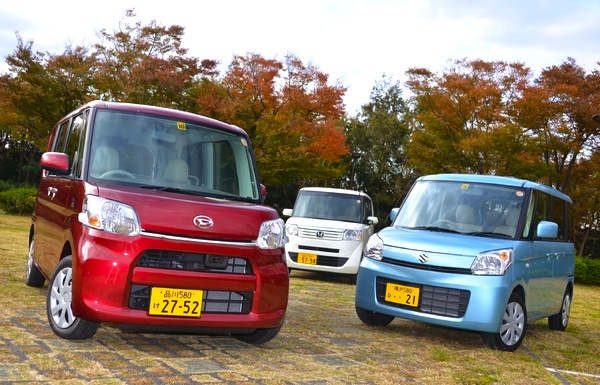 Daihatsu Tanto Honda N-BOX Suzuki Palette Japan 2013. Picture courtesy of response.jp