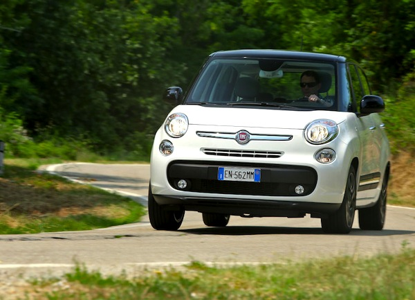 Fiat 500L Italy May 2014. Picture courtesy of largus.fr