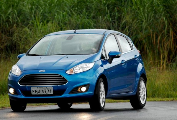 Ford Fiesta Argentina February 2014. Picture courtesy of temusados.com.br