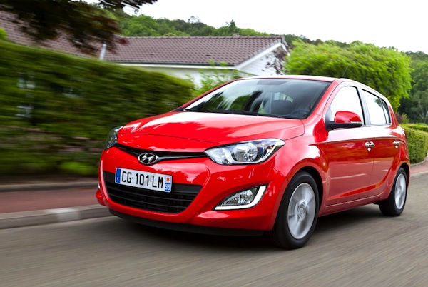 Hyundai i20 Austria June 2014. Picture courtesy of largus.fr