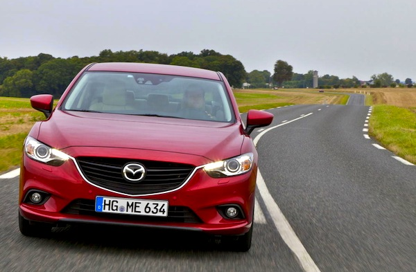 Mazda6 Greece December 2013. Picture courtesy of largus.fr