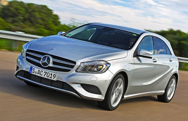 Mercedes A Class Germany Full Year 2013. Picture courtesy of autobild.de