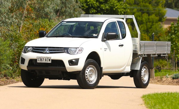 Mitsubishi Triton Australia December 2013. Picture courtesy of themotorreport.com.au