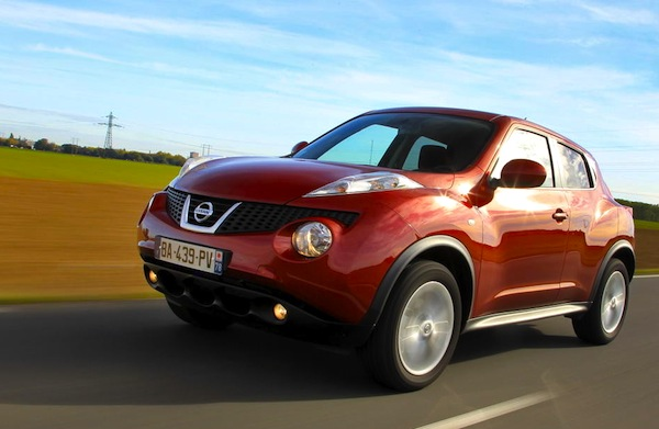 Nissan Juke UK 2013. Picture courtesy of largus.fr