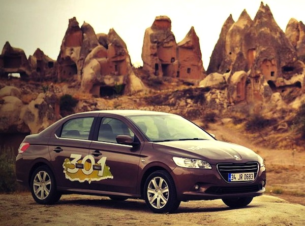 Peugeot 301 Turkey December 2013. Picture courtesy of otomobil.com.tr