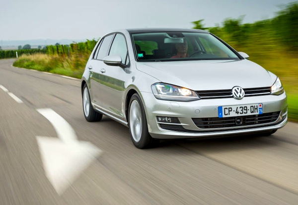 VW Golf Spain January 2014. Picture courtesy of largus.fr